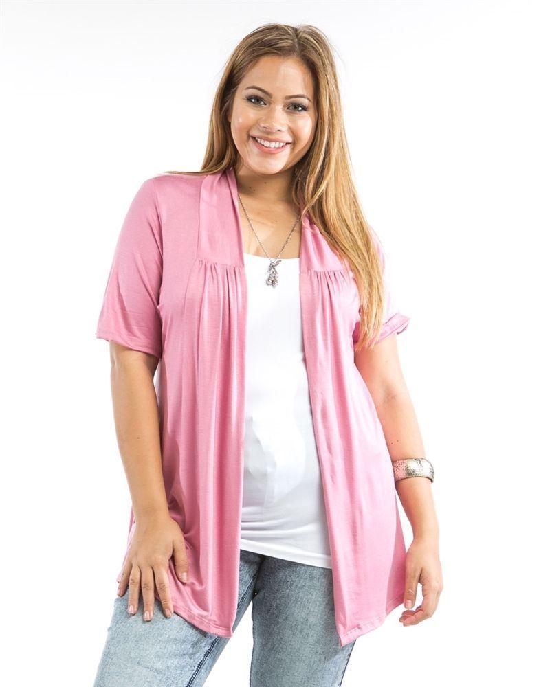 Details about Mumu Rose Short Sleeve Open Flyaway Front Knit ...