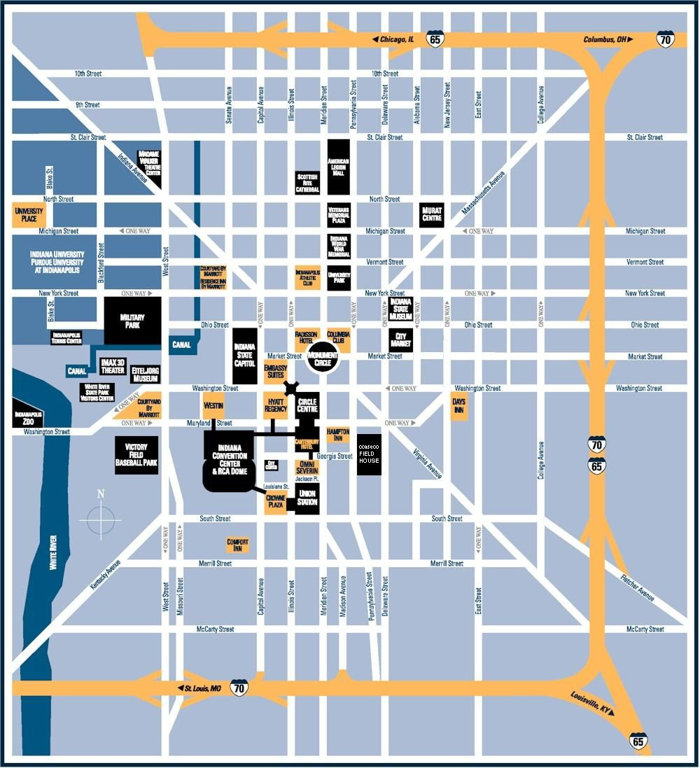 Downtown Indianapolis Indiana | downtown indianapolis smaller maps on