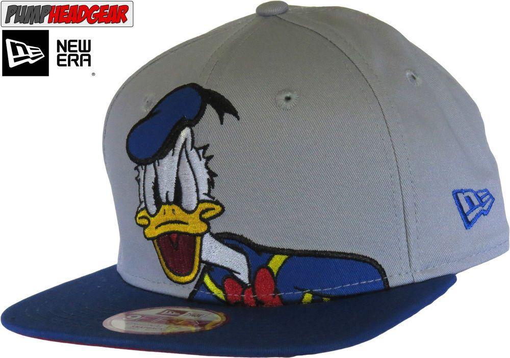 58d872b2f9a Donald Duck 950 Disney Over Logo New Era Snapback Cap