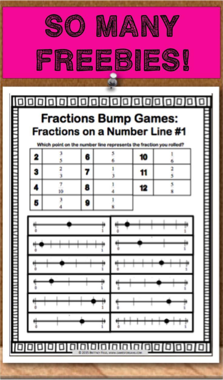 Freebies Fractions Teaching Math 4th Grade Fractions