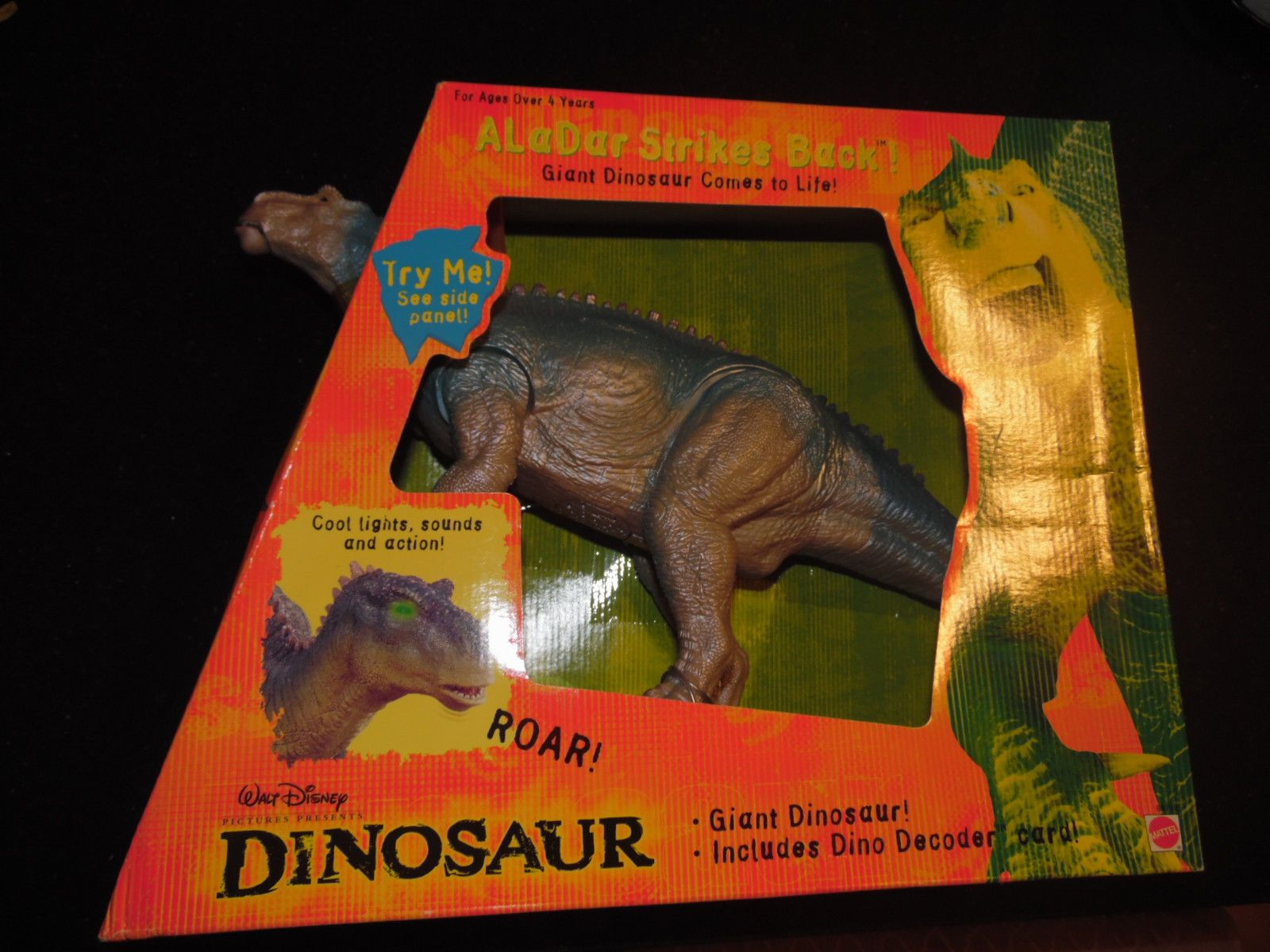Disney Dinosaur Toys : Dinosaur toys mattel walt disney aladar strikes
