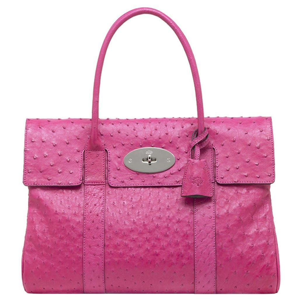 Mulberry Bayswater Hot Pink Ostrich