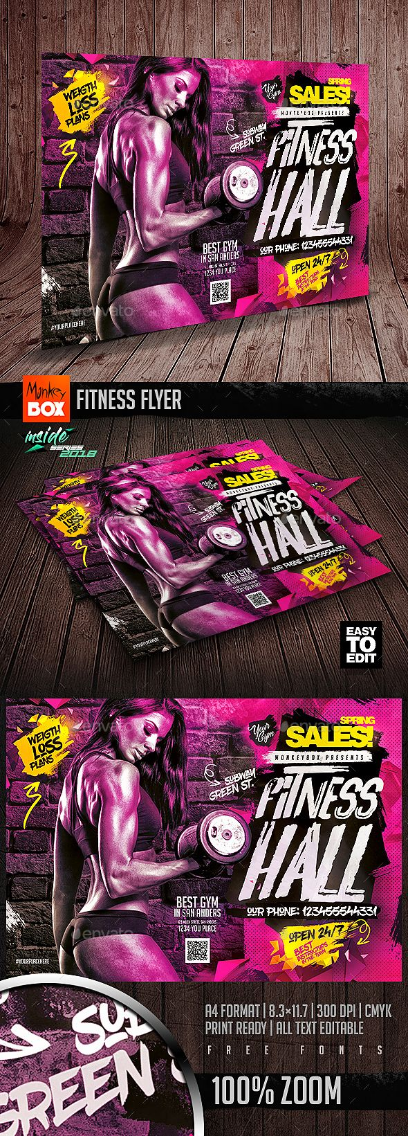 Pin by best Graphic Design on Flyer Templates   Fitness
