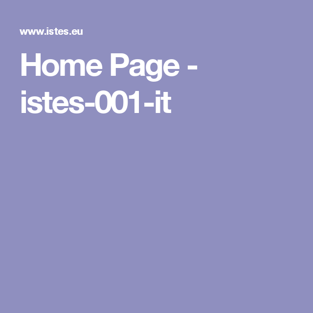 Home Page - istes-001-it