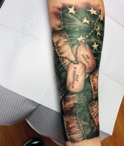 Top 60 Best American Flag Tattoos For Men Usa Designs T S