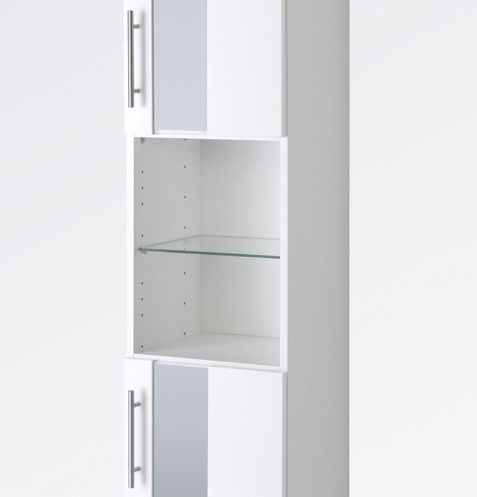 badezimmer hochschrank 50 cm breit weiß Locker storage