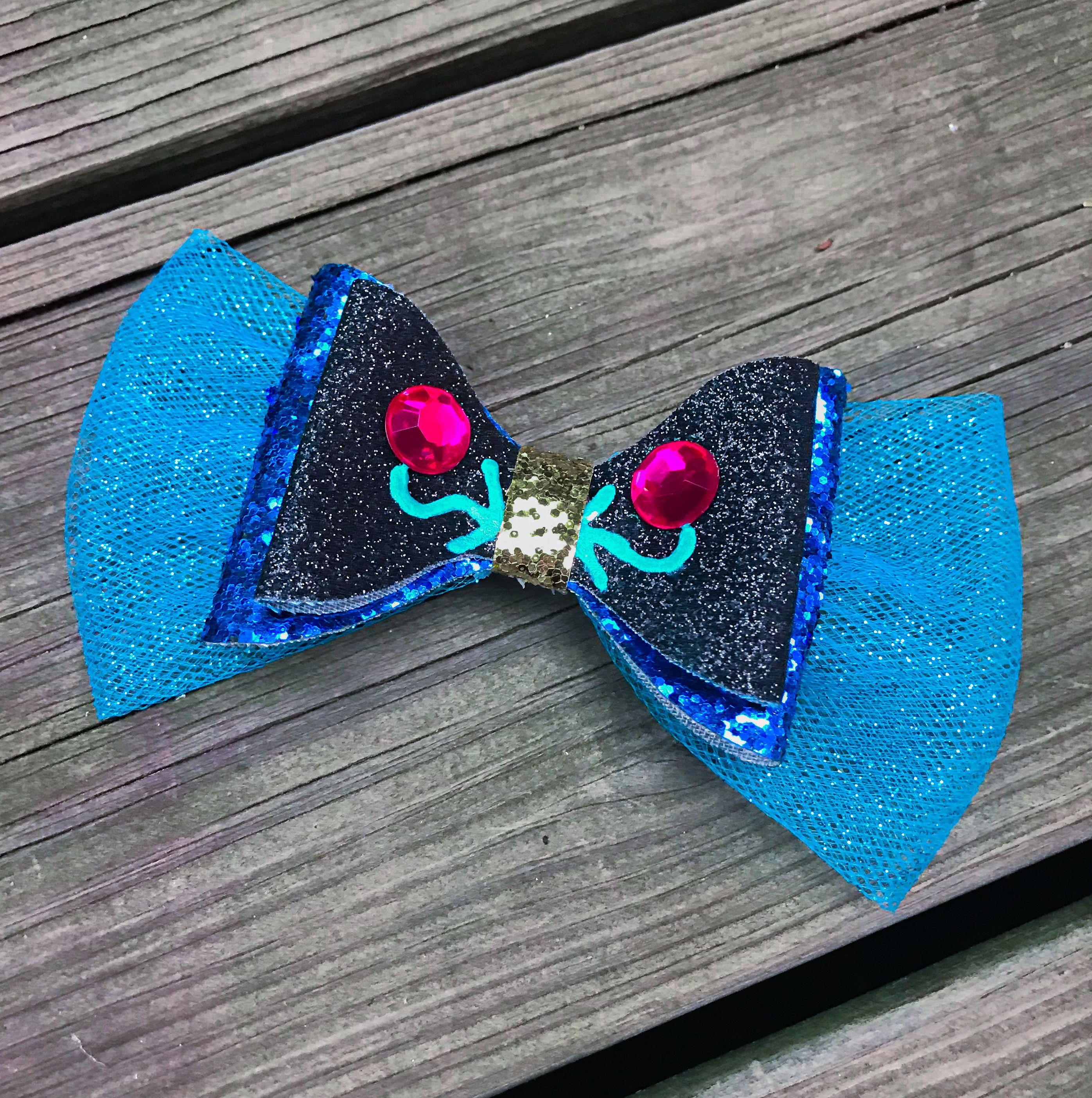Handmade INSPIRED Princess Frozen /'Anna/' Glitter Flower Headband Or Clip
