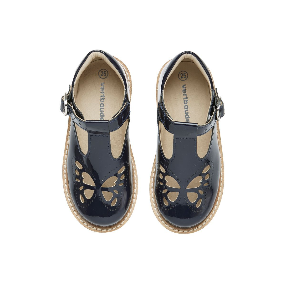 Sandales salomés fille collection maternelle en cuir vernis