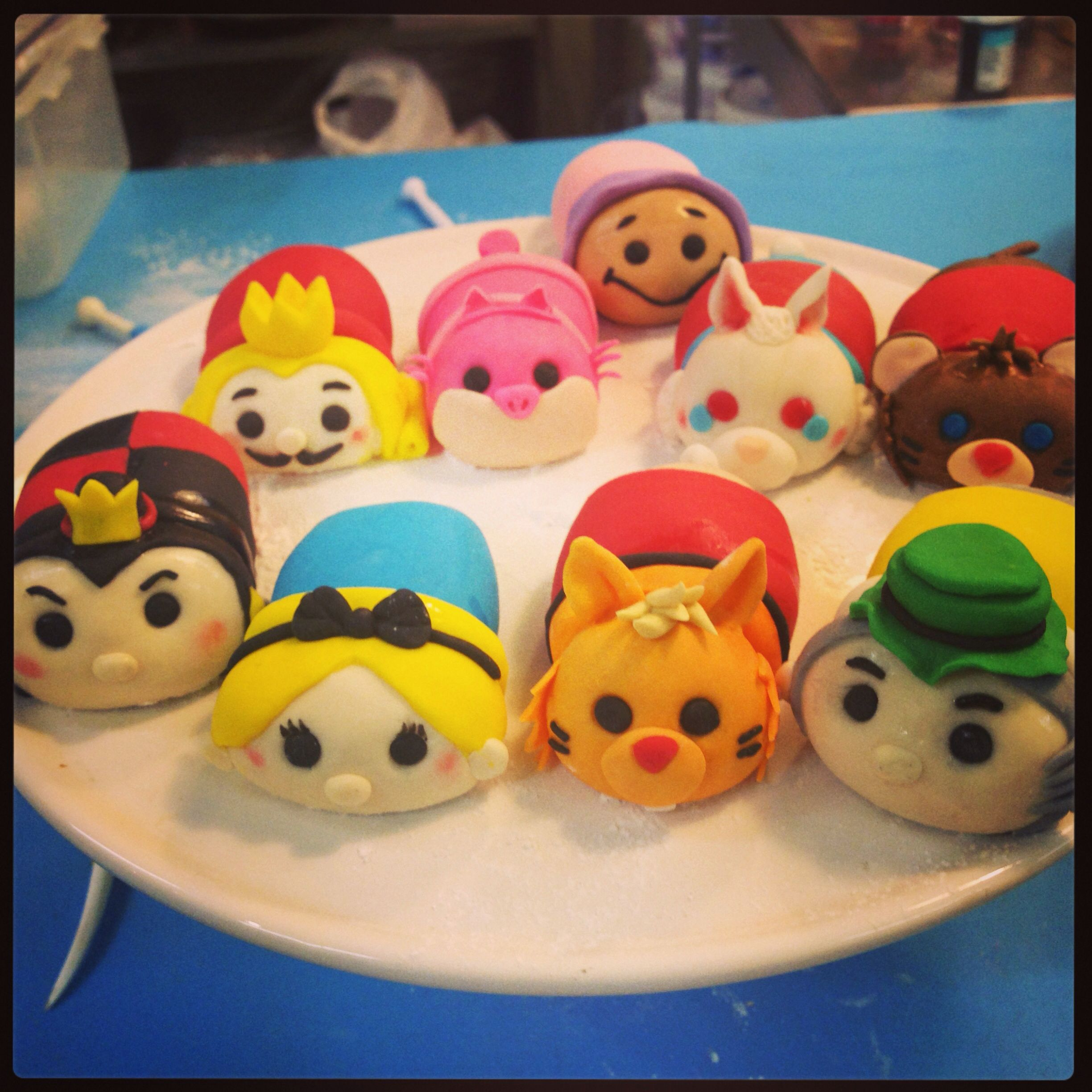 fondant disney tsum tsums figurines cake topper fondant. Black Bedroom Furniture Sets. Home Design Ideas