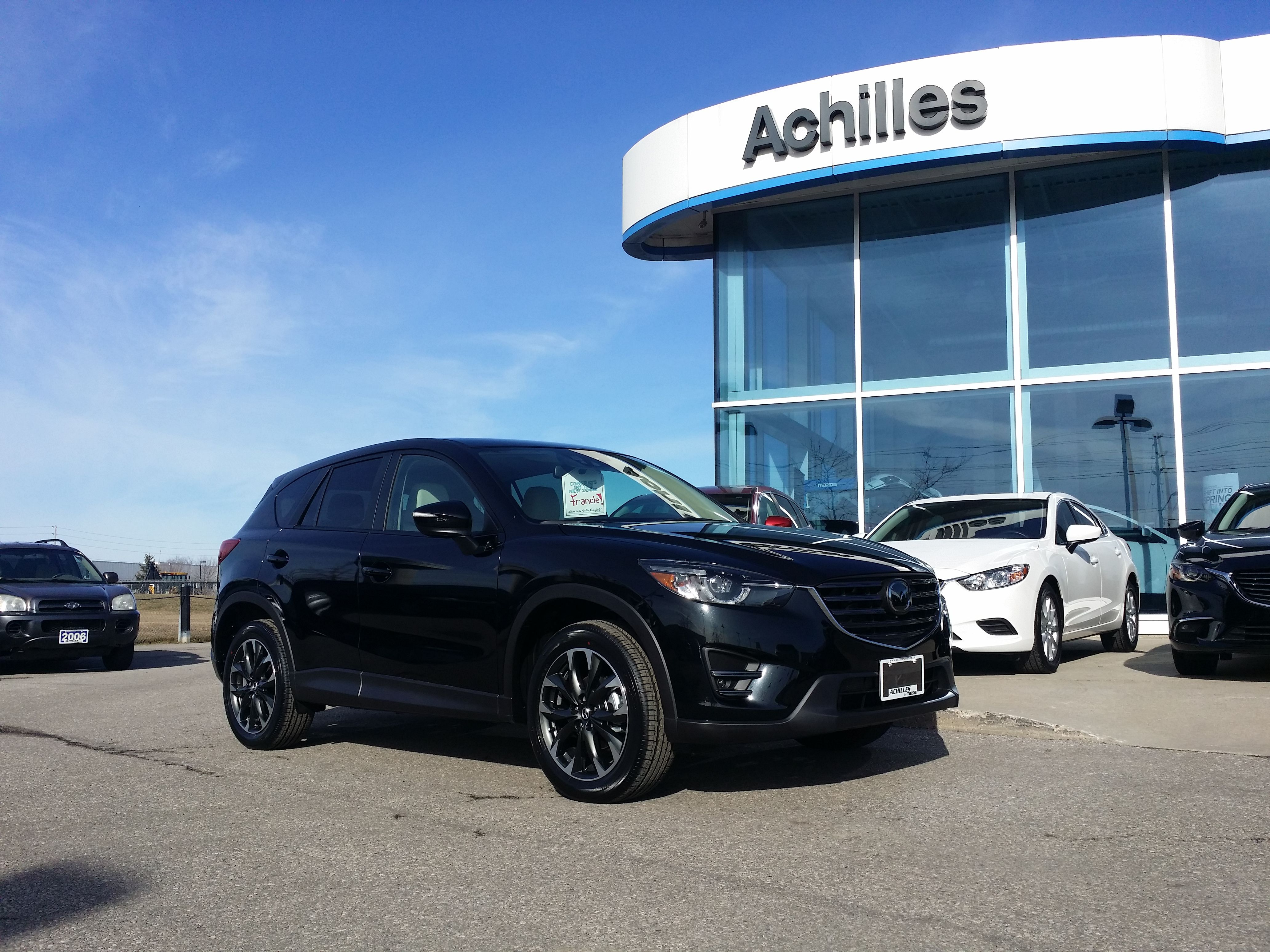 2016 mazda cx 5 gt tech package finished in jet black with white interior see the full video. Black Bedroom Furniture Sets. Home Design Ideas