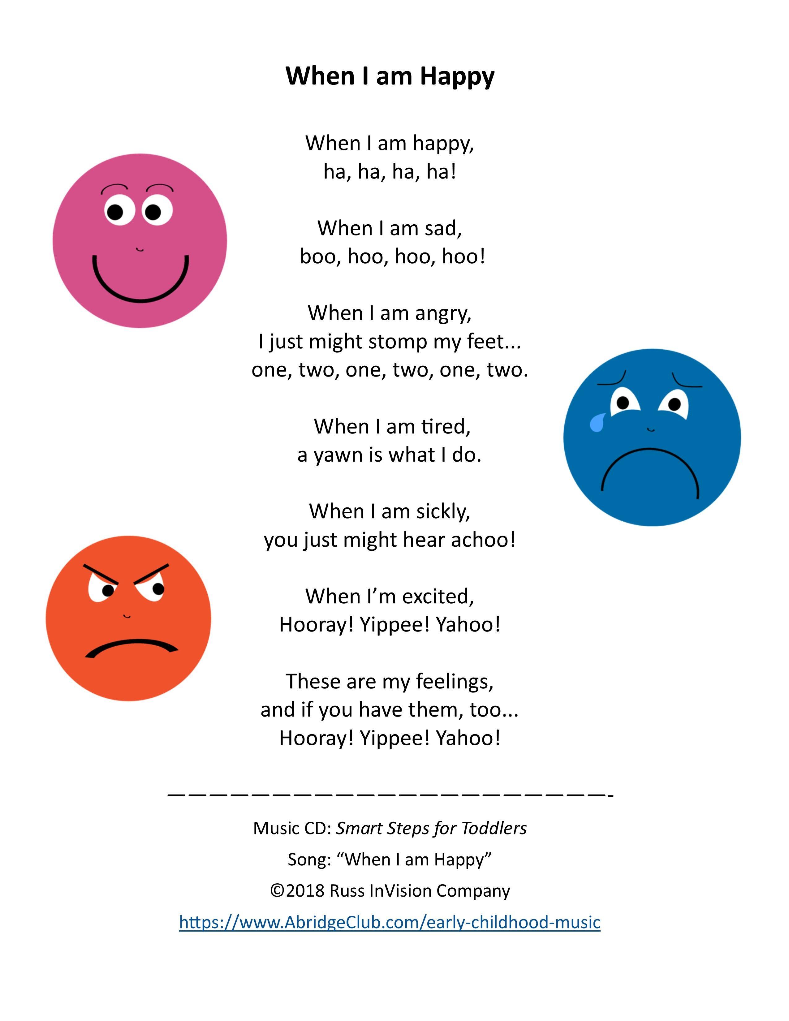 Toddler & Preschool Song | Feelings & Emotions | Music & Movement | AbridgeClub.com