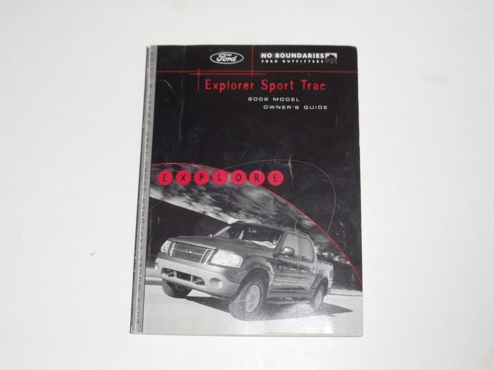 2002 ford explorer sport trac owners manual book owners manuals rh pinterest com 2002 Ford Explorer Fuses Manual 2002 Ford Explorer Fuse Diagram