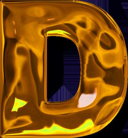 presentation alphabets lumpy gold letter d