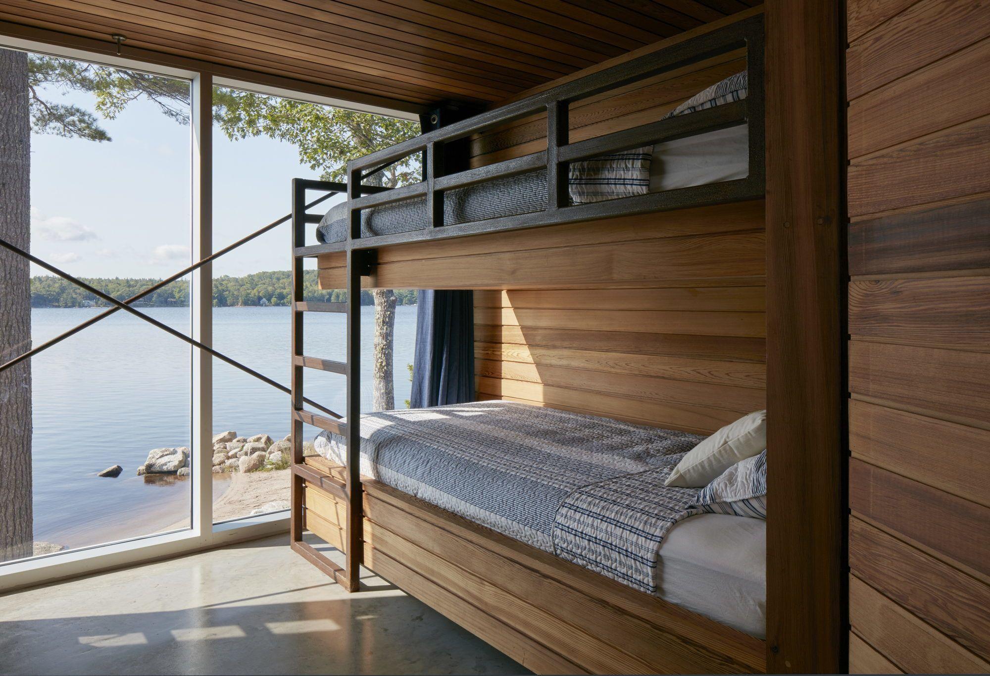 Zedernschindeln und Porch Kanadisches Ferienhaus am See