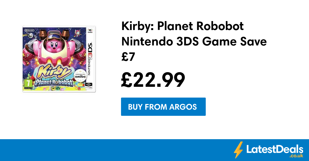 b236983f8fd NOW TV Box with 1 Month Sky Sports Pass Save at Argos. Kirby: Planet  Robobot Nintendo 3DS Game Save £7, £22.99 at Argos