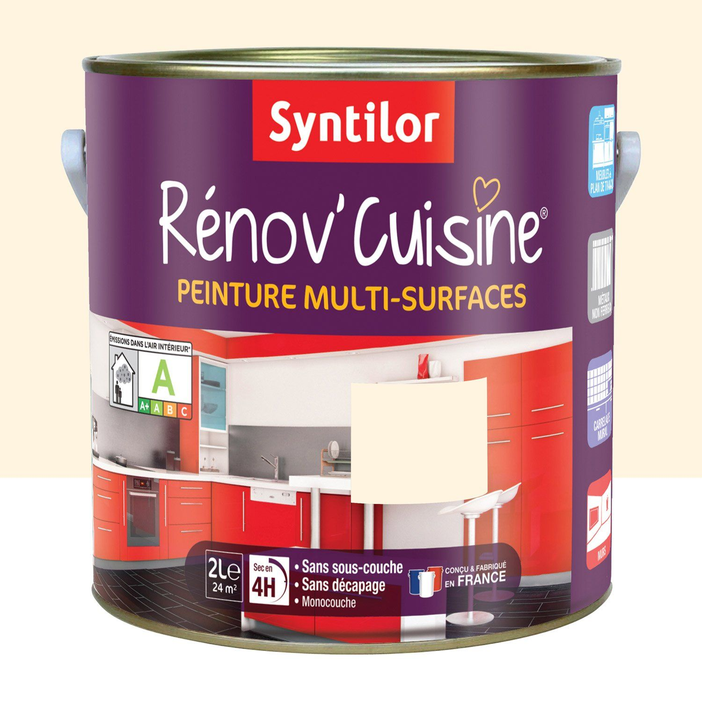 Peinture Rénovcuisine SYNTILOR Beige Vanille L Leroy Merlin - Syntilor renov cuisine pour idees de deco de cuisine
