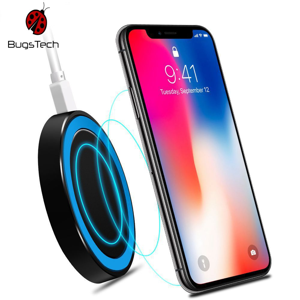 Bugsteck Wireless Charging Pad For Samsung Galaxy S8 S7 S6 Edge Note 5 Iphone X 7 8 Plus Bugs Tech Online Shop Wireless Charger Wireless Charging Pad Desktop Charger