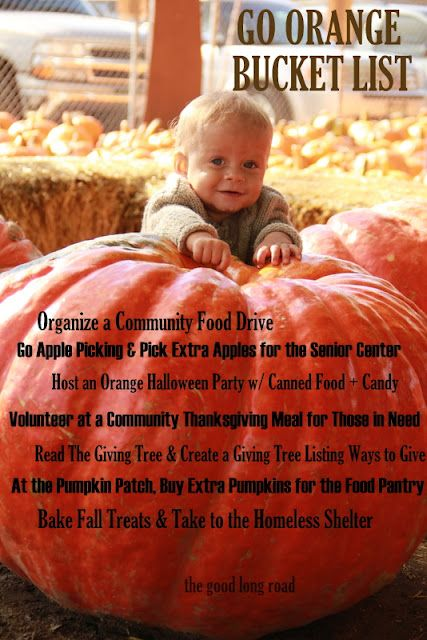 Go Orange Fall Bucket List + Moms Fight Hunger Blog Hop (over 30 activities to engage kids w/hunger action month) #momsfighthunger #nokidhungry #JoinTeamNKH