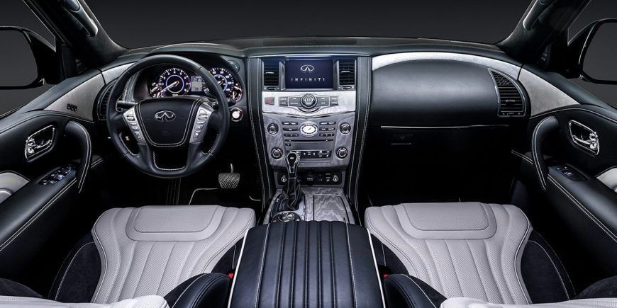 2019 Infiniti Qx80 Luxury Suv Interior Graphite Leather And Alcantara Trim Luxury Suv Infiniti Usa Suv