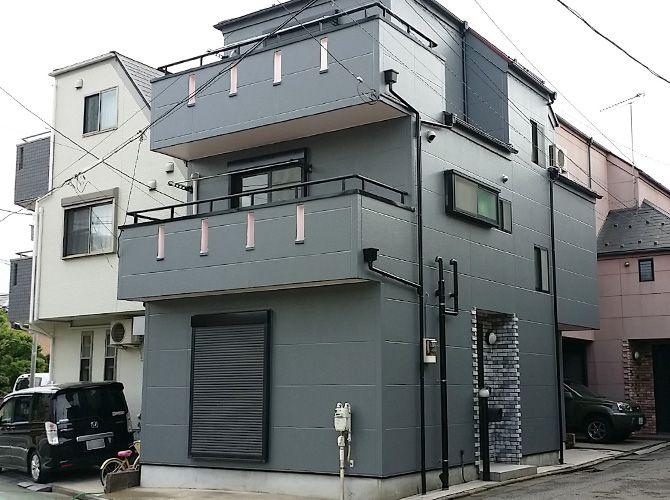 東京都葛飾区の外壁塗装 屋根塗装工事の施工事例 20150046 塗装