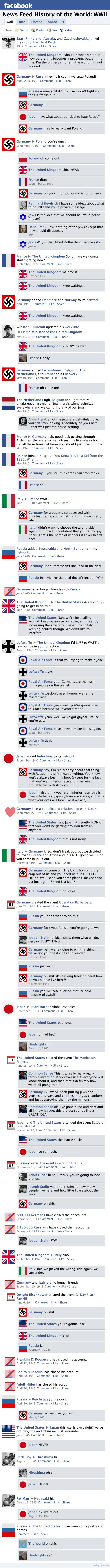 News Feed History of the World War 2 !! Genius Way to present !