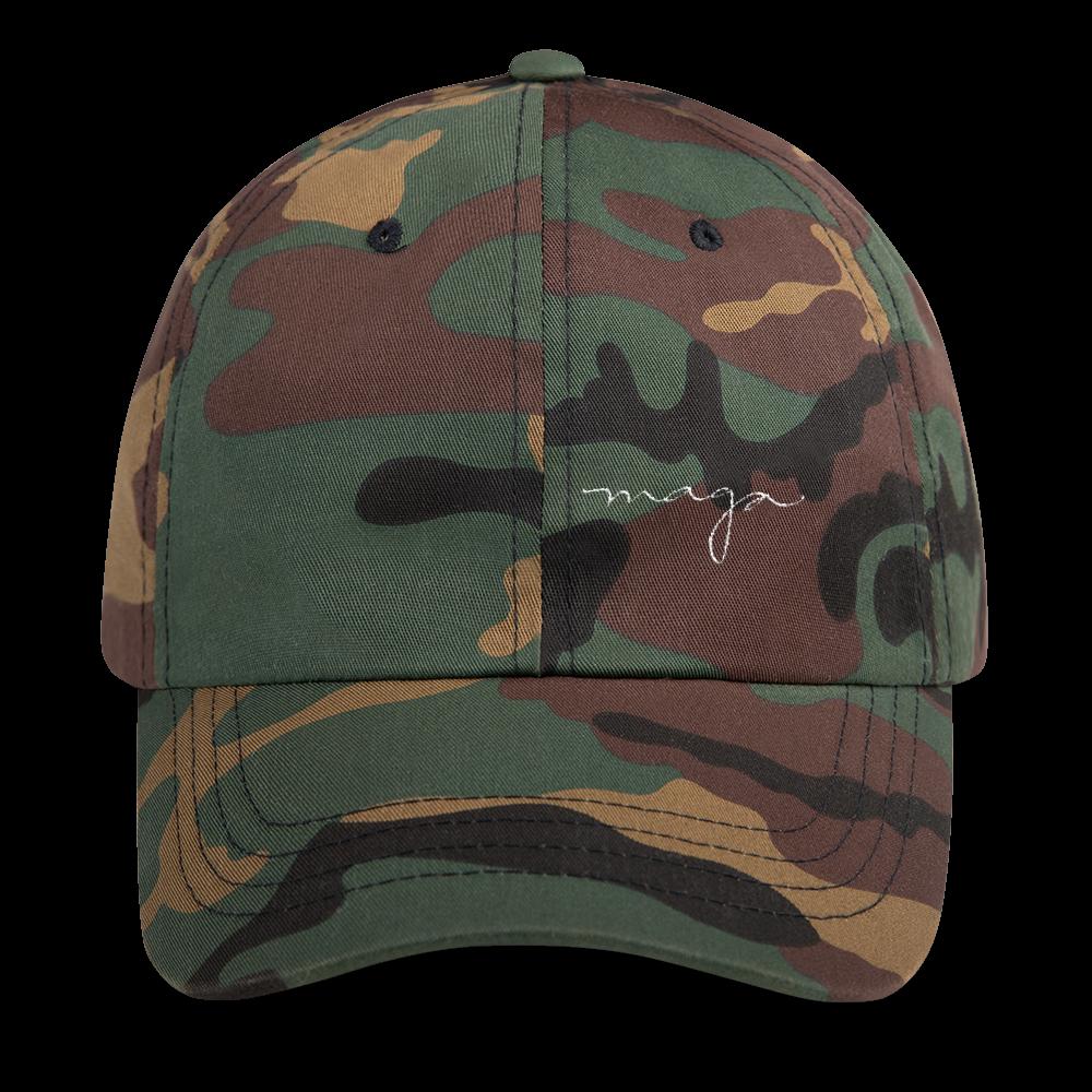 Signature Camo Dad Hat Dad Hats Green Camo King Dad Hat