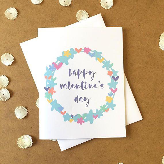 floral valentine s day card valentines day card friend valentine