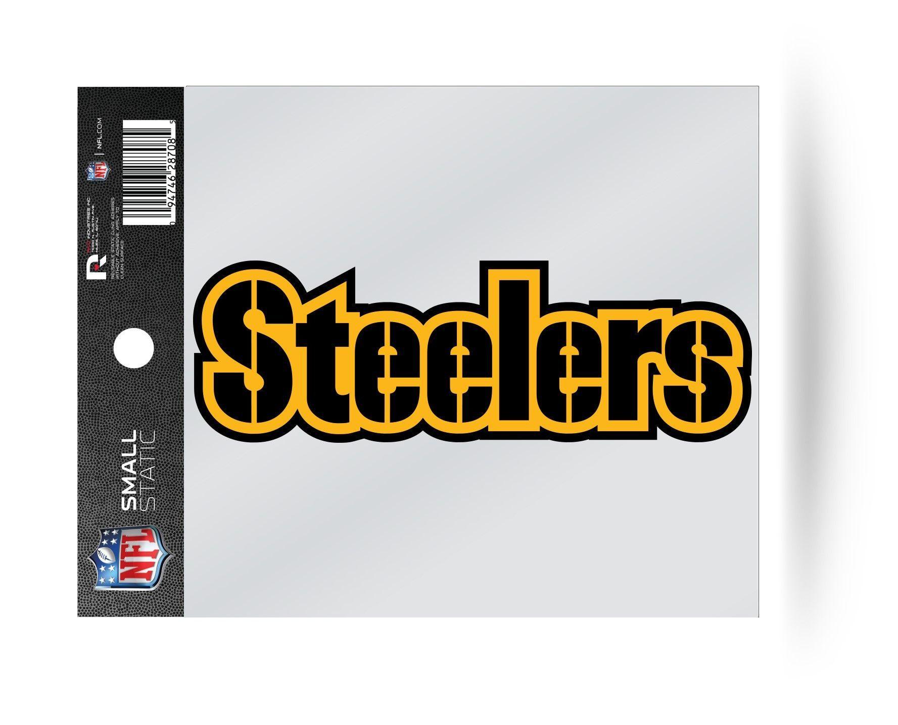 a10de65cf Pittsburgh Steelers Wordmark Logo Static Cling Sticker Decal NEW!! Window  or Car!