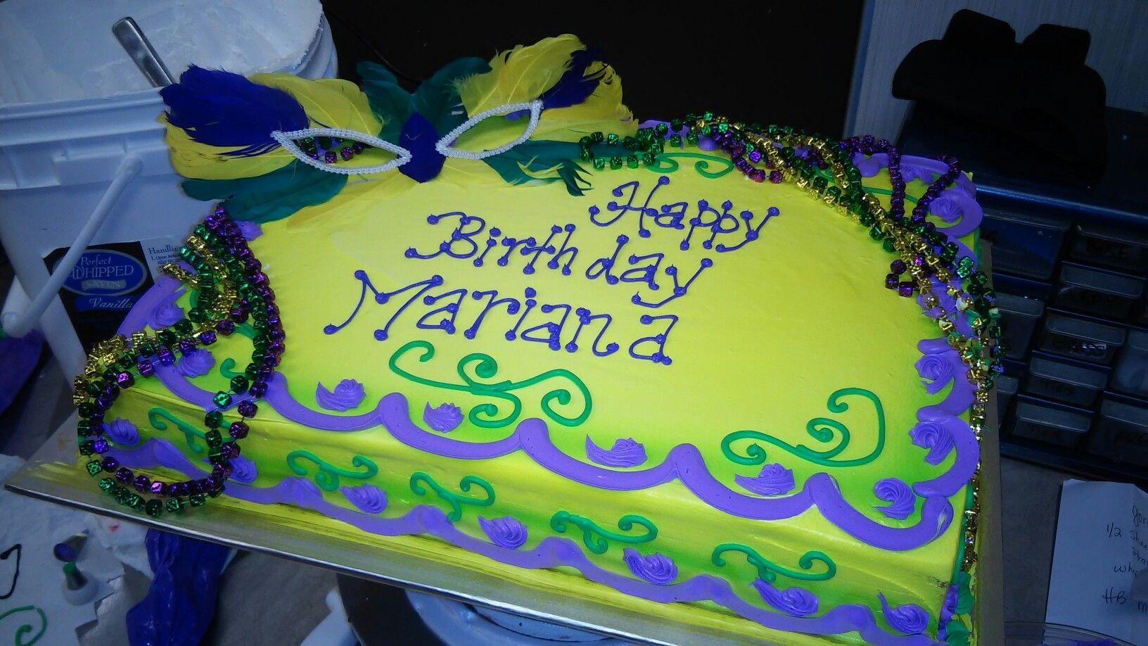 Mardi Gras Sheet Cake With Images Mardi Gras Cake Sweet 16