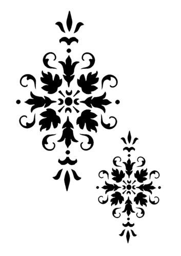materiali di alta qualità scarpe a buon mercato vero affare vintage motif damansk stencil 1 | tatto | Stencil, Damasco e ...