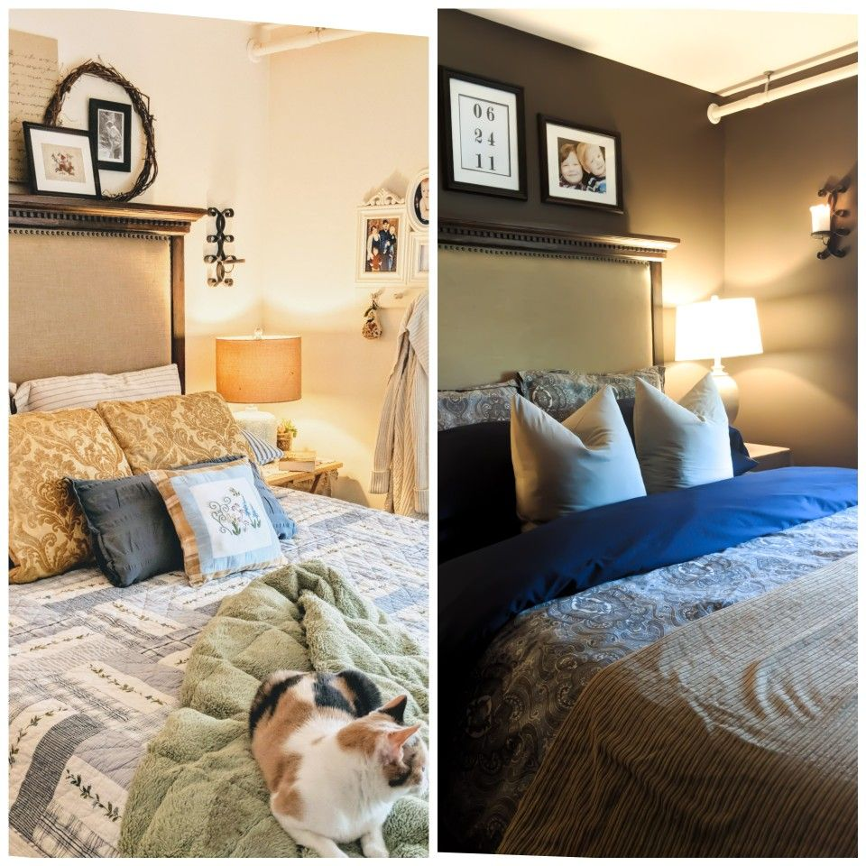 before and after master bedroom transformation homedecor