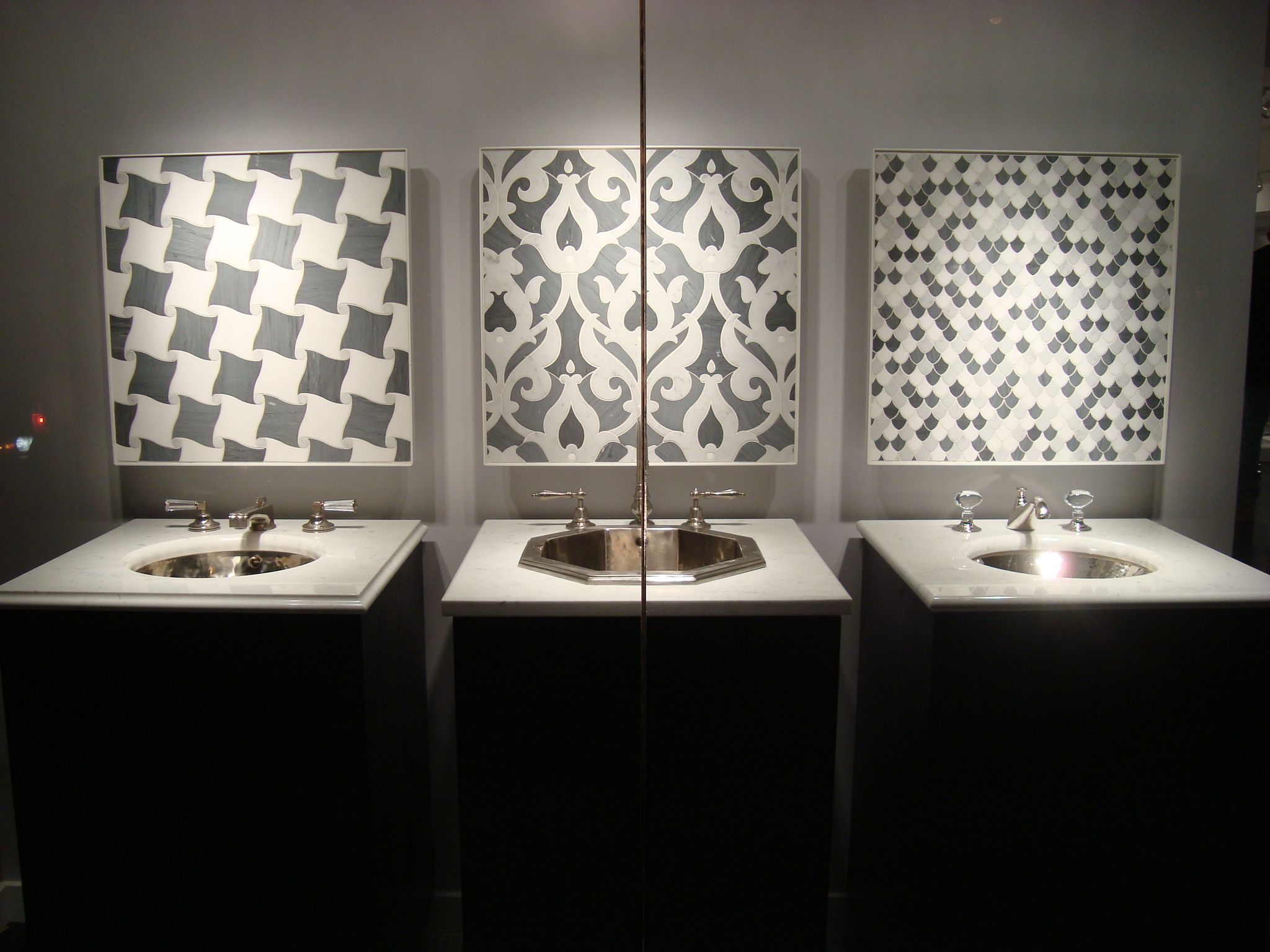 faucet and mosaic display in the 58th st showroom new york 58th faucet and mosaic display in the 58th st showroom