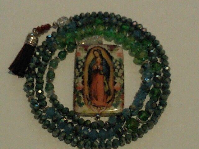 Fashion Rosary Virgin of Guadaloupe, handmade with LOVE by Marketa India©