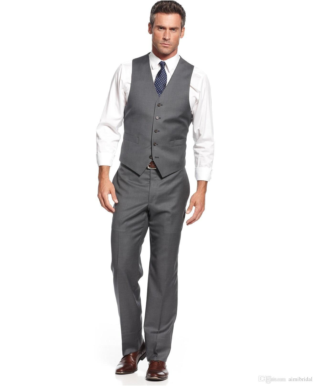 2016 New Custom Made Men Suits Dark Grey Tuxedos For Wedding Best Men Slim Fit Three Pieces Groom Groomsmen Tuxedos Jacket Pants Waistcoat Suits For Wedding Groom Tux For Wedding From Aimibridal, $78.33| Dhgate.Com