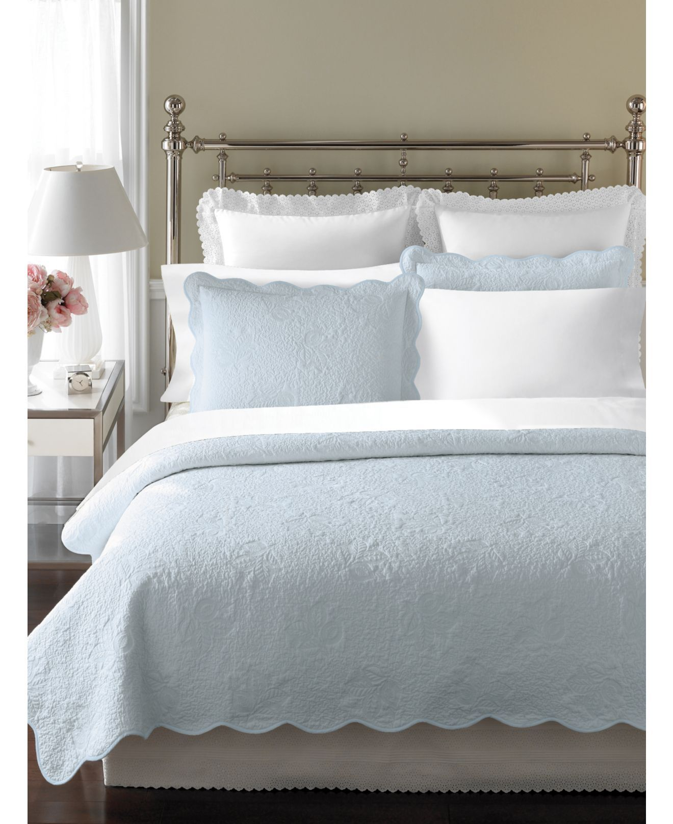 Martha Stewart Collection Bedding, Stenciled Leaves King
