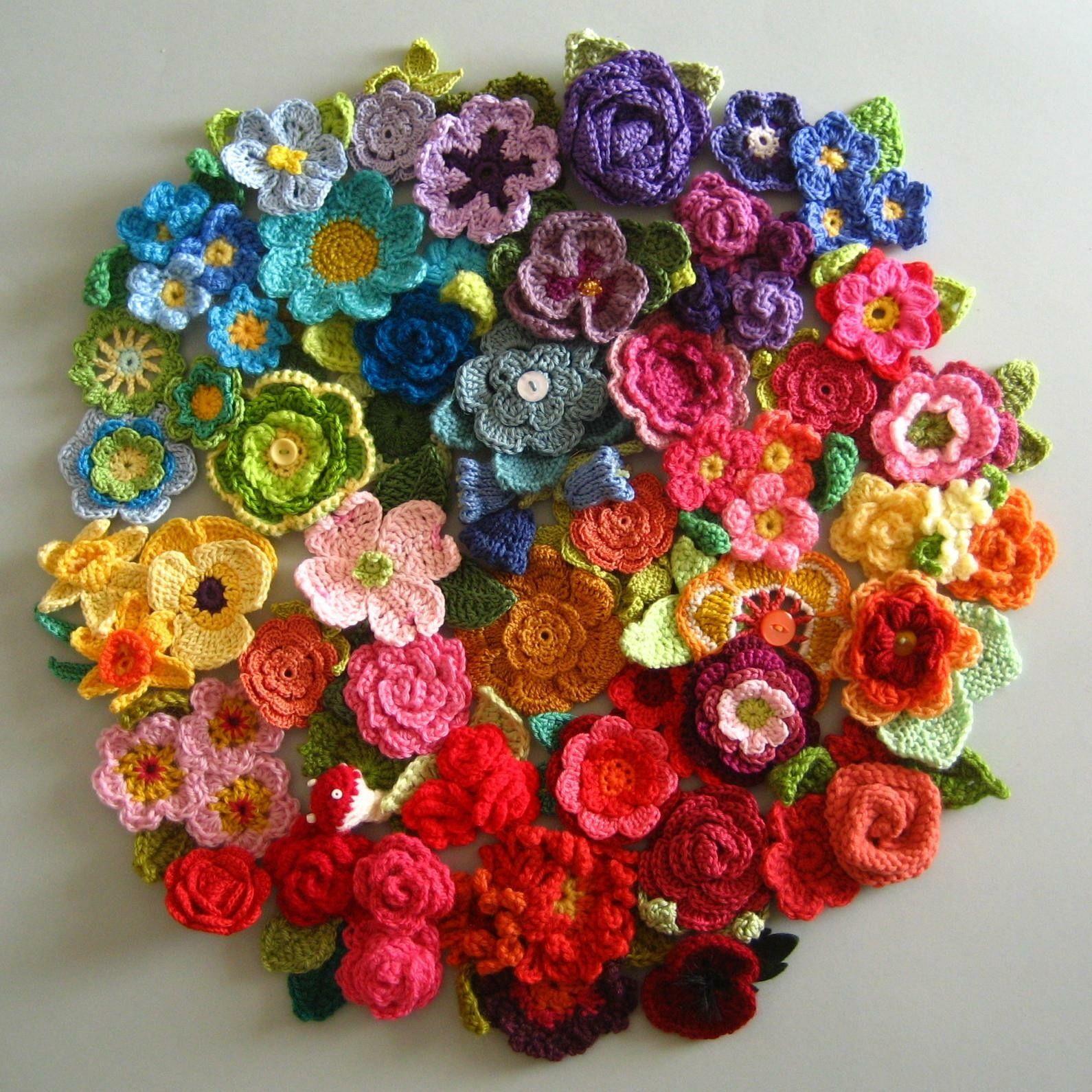 Pin by cyndie strauss on crochet pinterest crochet crochet sending you a beautiful bouquet of yarn flowers to brighten your day x izmirmasajfo
