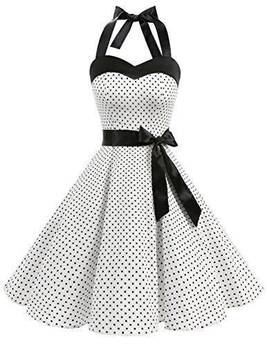 DRESSTELLS Vintage 1950s Rockabilly Polka Dots Audrey Dress Retro ...