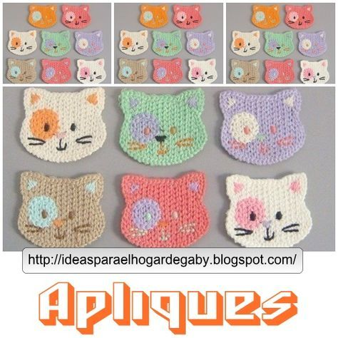 cats.jpg (504×504) | Crochet | Pinterest | Apliques, Ganchillo y Varios