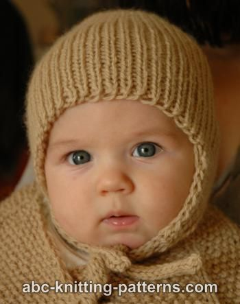 Ribbed Baby Earflap Hat Free Knitting Pattern By Elaine Phillips