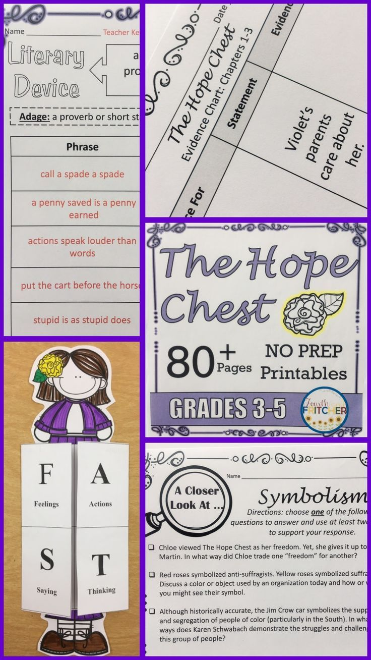 The Hope Chest Complete Literature Study For Grades 3 5 Aligns To Nys Ela Module Learning Printables Reading Comprehension Activities Comprehension Activities [ 1308 x 736 Pixel ]