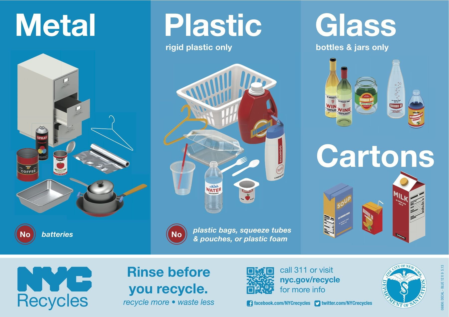 Nyc Recycles Information Pdf Http Www Nyc Gov Html Nycwasteless Downloads Pdf Materials Recycling Info Packet Pdf Recycling Bottles And Jars Plastic Glass