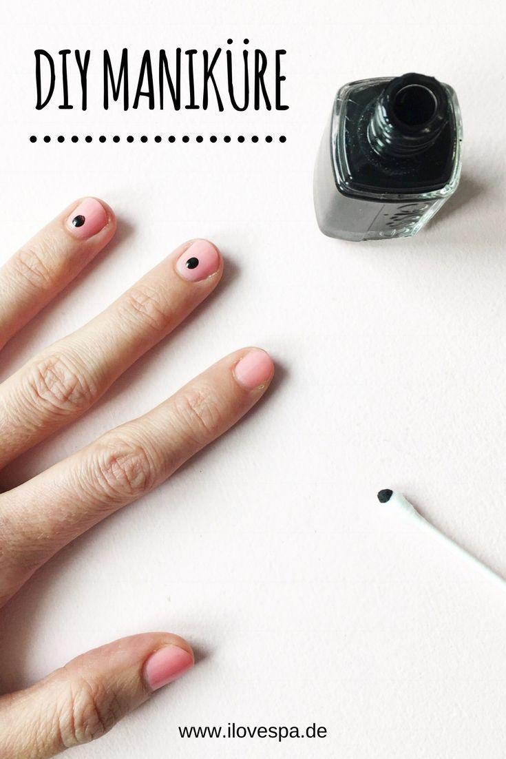 DIY Minimal Manicure - schlichte Maniküre mit Punkten auf