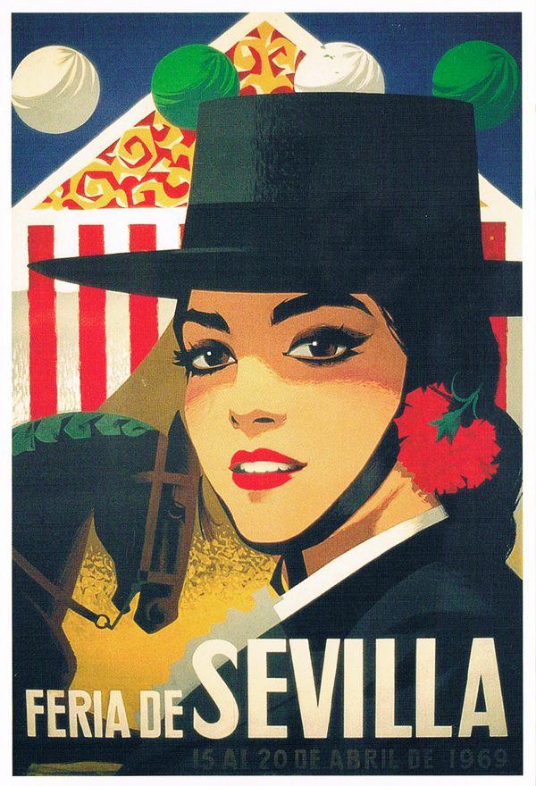 eb48cf7e13ad8 Feria de Sevilla 1969 ~ Seville Espagne ~ España ~ Spain