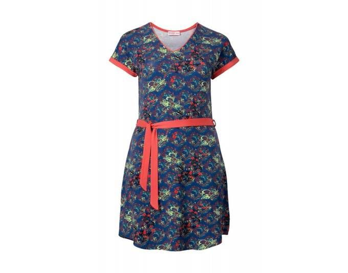 Sheego Damen Kleid, blau-koralle Jetzt bestellen unter: https://mode ...