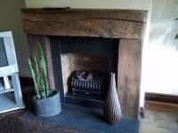 Wooden Beam Fireplace Cosy Fireplace
