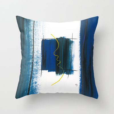 Character No6 Throw Pillow by Marina Kanavaki - $20.00