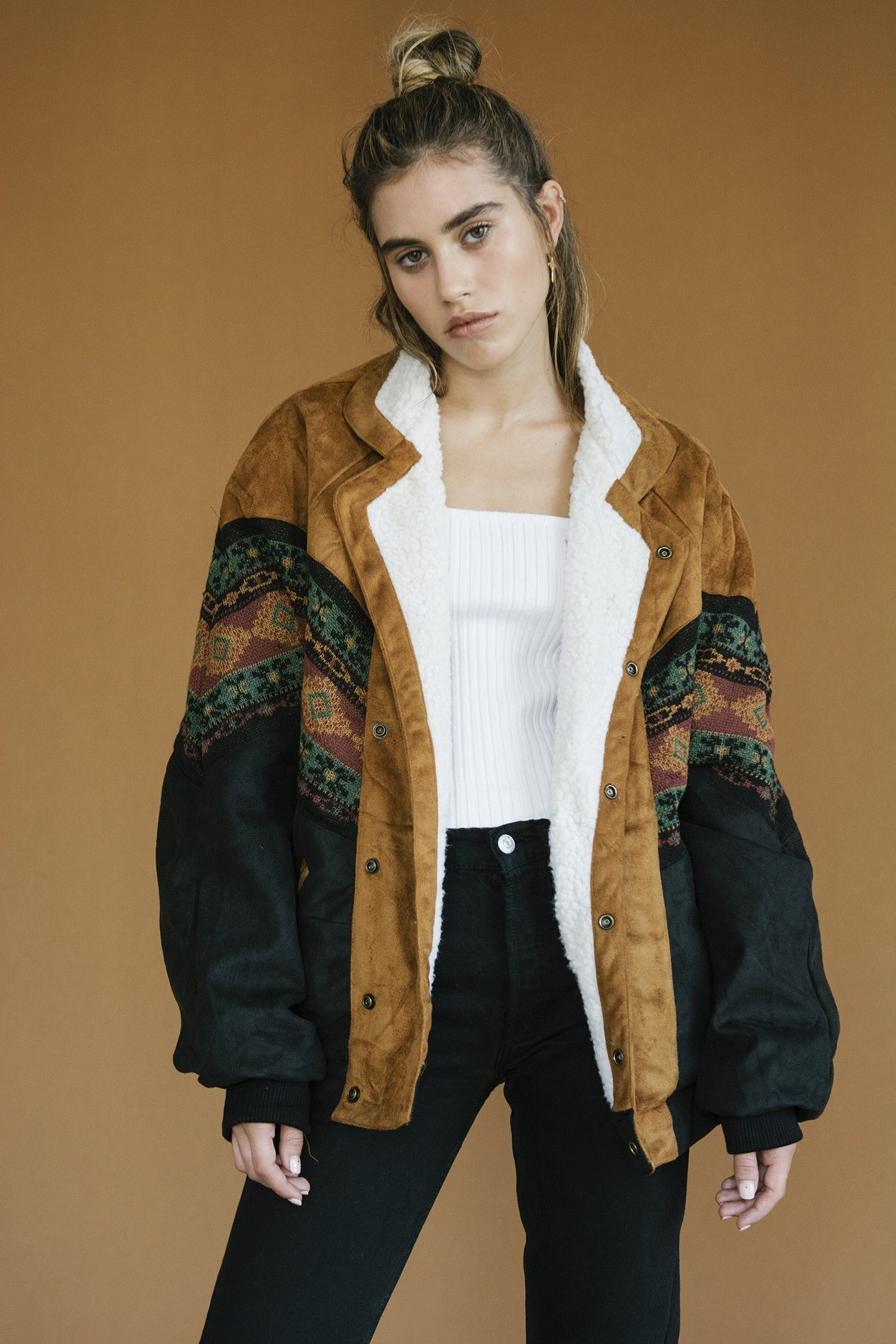 Alaska Brown Navajo Bomber Arizona Babe Fashion Hippie Outfits Casual Chic Outfit [ 2250 x 1500 Pixel ]