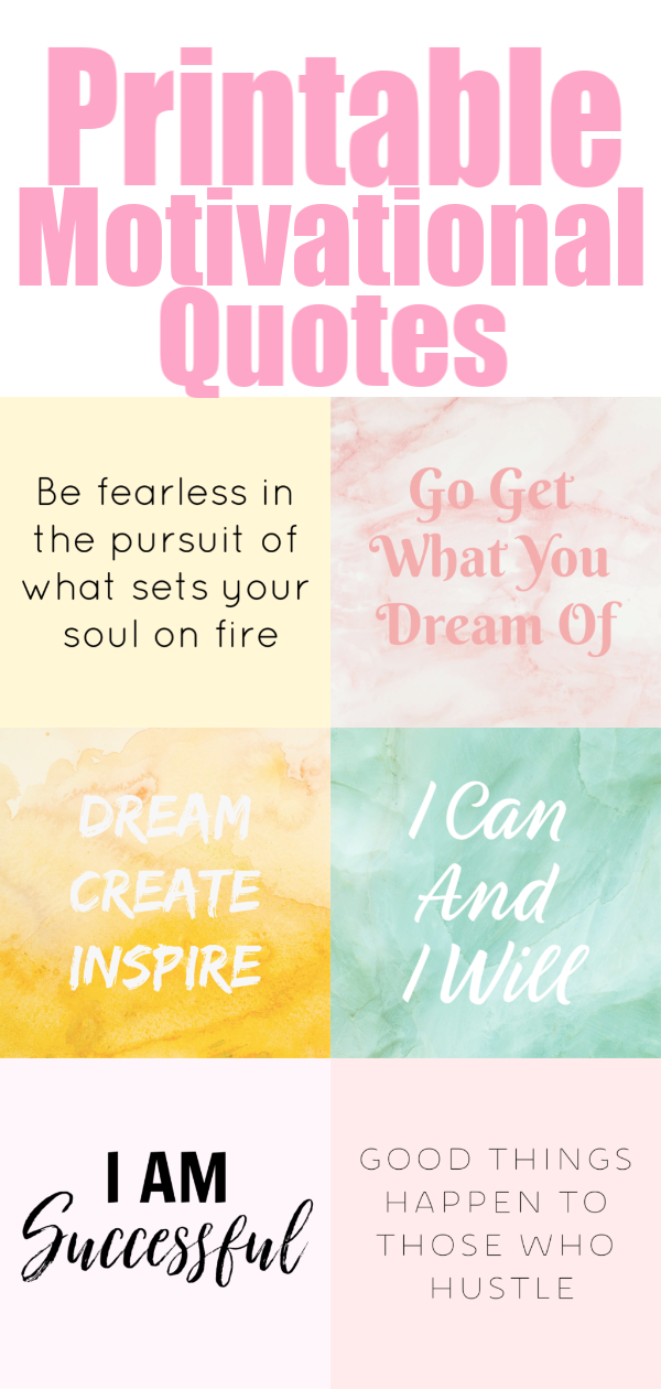 40 Printable Motivational Quotes For Your Vision Board