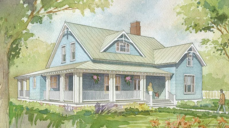 A Wide Front Porch And A Screened Back Porch Provide Plenty Of Space In This Home For Whiling Away Southern House Plans House Plans Farmhouse Best House Plans