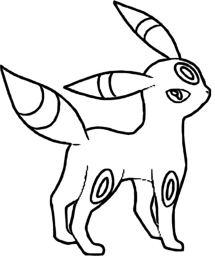 pokemon coloring pages dragonite. Umbreon Pokemon Coloring Pages  KidsDrawing Free Online